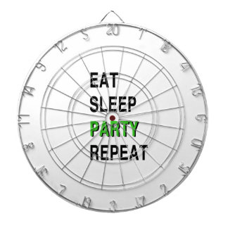 Eat Sleep Party Repeat Dartboard