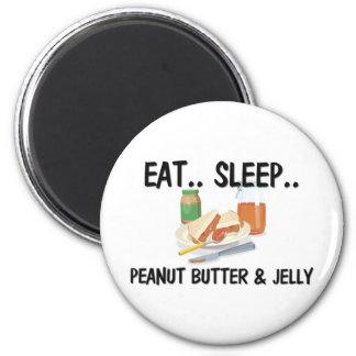 Eat Sleep PEANUT BUTTER & JELLY 6 Cm Round Magnet