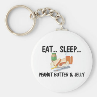 Eat Sleep PEANUT BUTTER & JELLY Key Ring