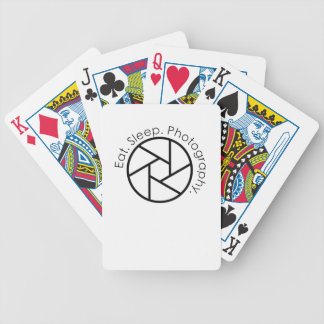 Eat. Sleep. Photography. Camera Bicycle Playing Cards