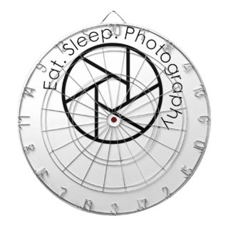 Eat. Sleep. Photography. Camera Dartboard