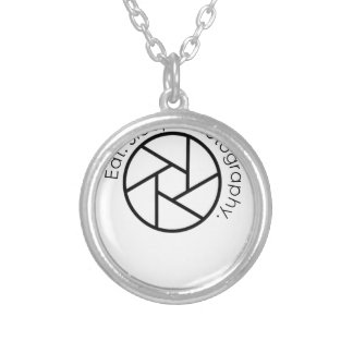Eat. Sleep. Photography. Camera Silver Plated Necklace