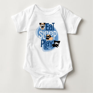 Eat, Sleep, Play! Apparel (Blue) Baby Bodysuit
