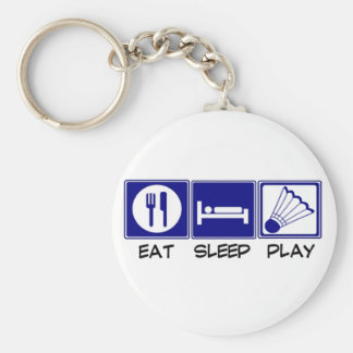 Eat, Sleep, Play Badminton Key Ring