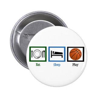Eat Sleep Play Basketball 6 Cm Round Badge