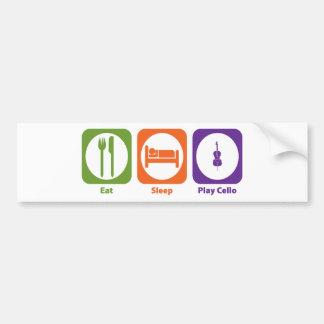 Eat Sleep Play Cello Bumper Sticker