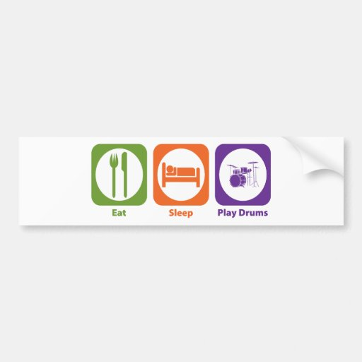 Eat Sleep Play Drums Bumper Stickers