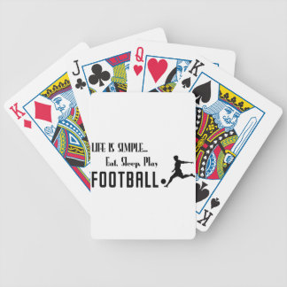 eat sleep play football bicycle playing cards