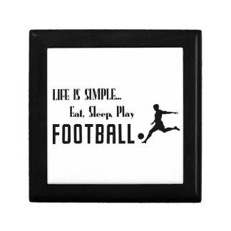 eat sleep play football gift box