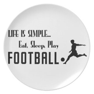 eat sleep play football plate