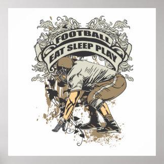Eat, Sleep, Play Football Print