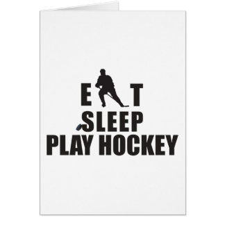 Eat Sleep Play Hockey Card