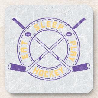 Eat Sleep Play Hockey Coaster