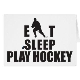 Eat Sleep Play Hockey Greeting Card