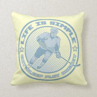 Eat Sleep Play Hockey Pillow