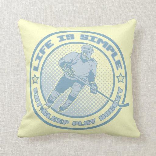 Eat, Sleep, Play Hockey Pillow