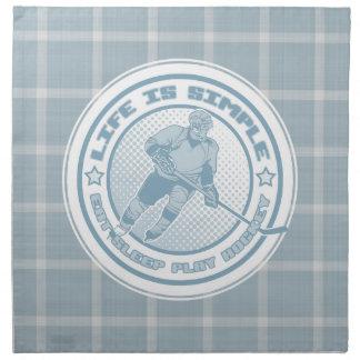 Eat, Sleep, Play Hockey Serviette Printed Napkins