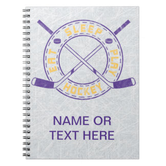 Eat Sleep Play Hockey Spiral Notebook