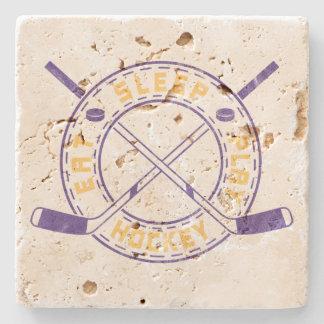 Eat Sleep Play Hockey Stone Coaster