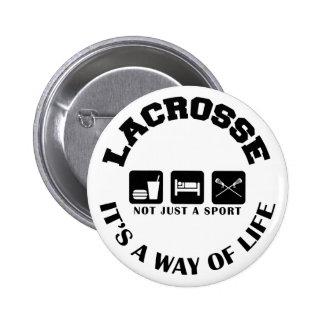 Eat Sleep Play Lacrosse 6 Cm Round Badge