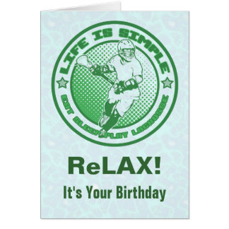 Eat, Sleep, Play Lacrosse Birthday Card