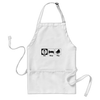 eat sleep play piano standard apron