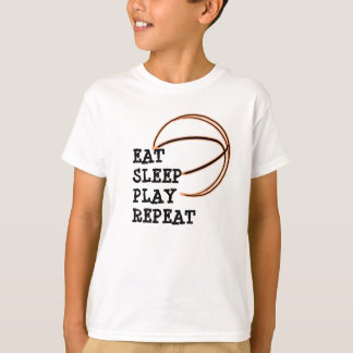 Eat Sleep Play Repeat Basketball Shirt
