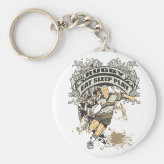 Eat, Sleep Play Rugby Key Ring