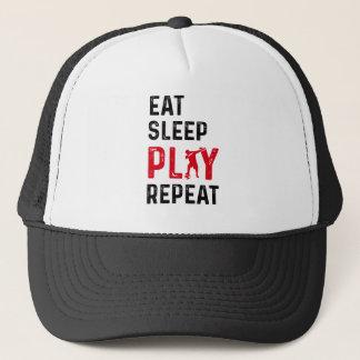 Eat Sleep Play Soccer Cool Player Dab Trucker Hat