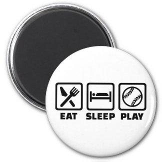 Eat sleep play Softball Magnet