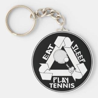 Eat Sleep Play TENNIS - Do It Again Basic Round Button Key Ring