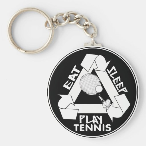 Eat Sleep Play TENNIS - Do It Again Keychains