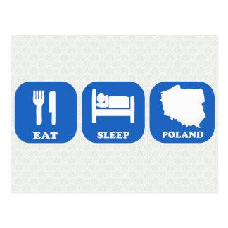 Eat Sleep Poland Postcard