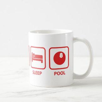Eat Sleep Pool Basic White Mug