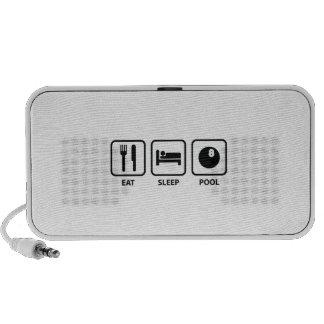 Eat Sleep Pool Mp3 Speaker