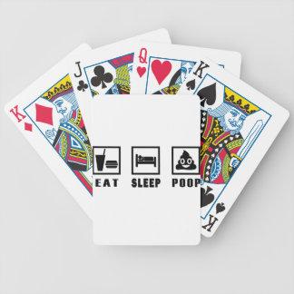 EAT SLEEP POOP BICYCLE PLAYING CARDS