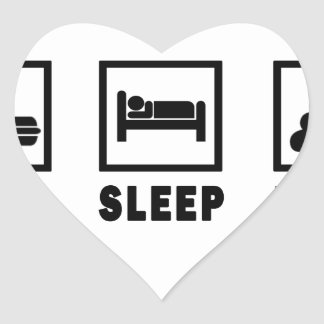 EAT SLEEP POOP HEART STICKER