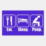 Eat Sleep Poop Rectangle Stickers