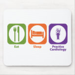 Eat Sleep Practice Cardiology Mouse Mats