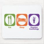 Eat Sleep Practice Cardiology Mouse Mats