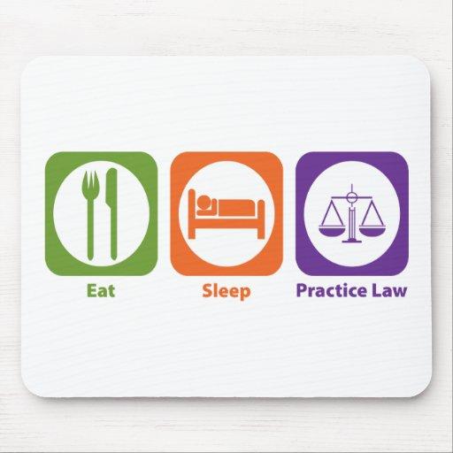 Eat Sleep Practice Law Mouse Mats