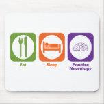 Eat Sleep Practice Neurology Mouse Mat