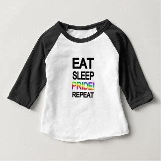 Eat sleep pride repeat baby T-Shirt