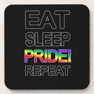 Eat sleep pride repeat drink coasters
