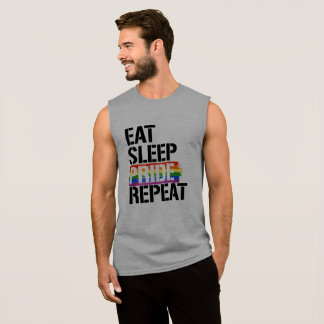 Eat Sleep Pride Repeat - - LGBTQ Rights -  Sleeveless Shirt