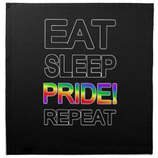 Eat sleep pride repeat napkin
