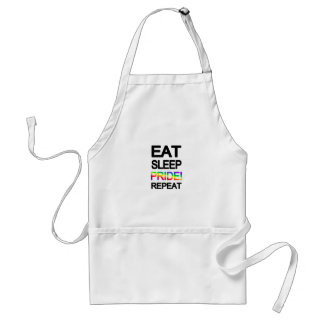 Eat sleep pride repeat standard apron