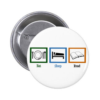 Eat Sleep Read 6 Cm Round Badge