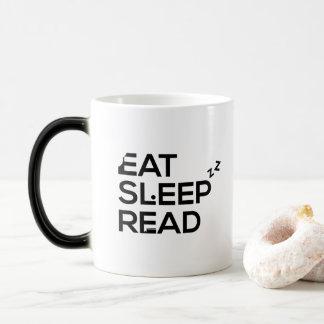 Eat Sleep Read - Bookworm Life Story - Life Quote Magic Mug