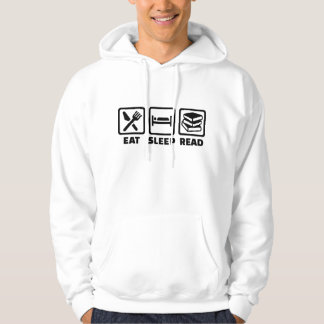 Eat sleep read hoodie